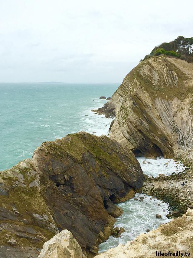The landscape looks more like Big Sur than Dorset