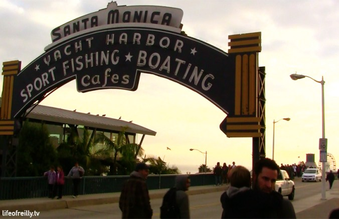 Santa Monica is a great place to stop for lunch or have a wander along the pier.