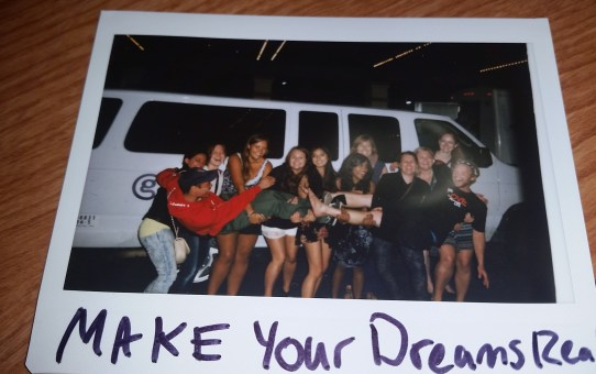 """This photo was taken after i quit my job with Gadventures. I wrote underneat it """"make your dreams real"""". I didn't know what that meant, but I knew that by leaving G adventures, I could still do just that."""