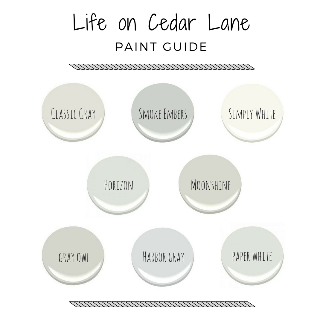 Cedar Lane Paint Colors Life On Cedar Lane