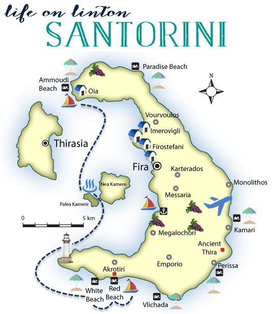 Santorini Greece Travel Guide \u2022 Life On Linton: Santorini Greece Map At Slyspyder.com