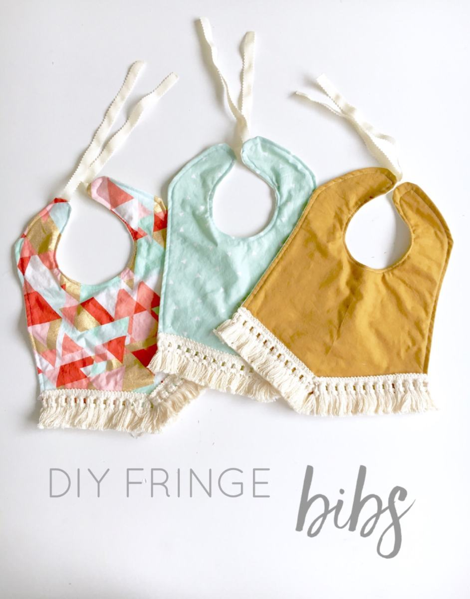 DIY Fringe Bibs