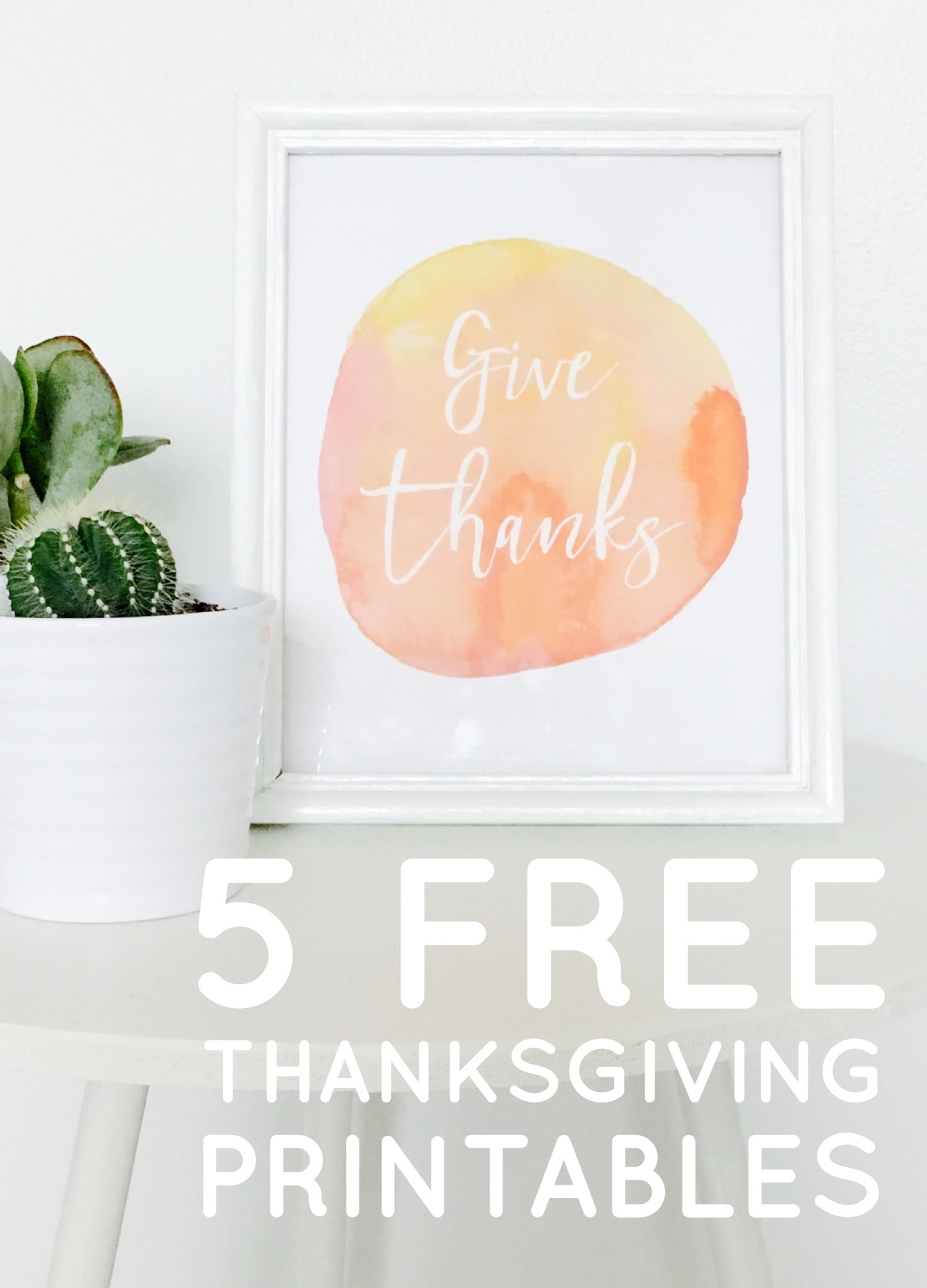 5 Free Thanksgiving Printables