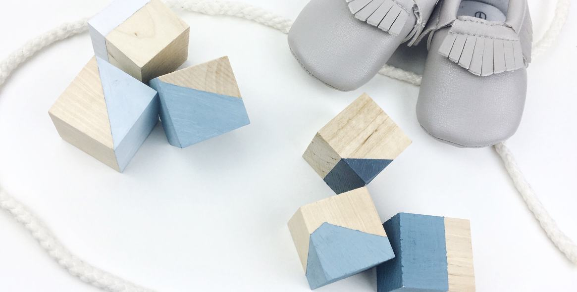 DIY Ombre Painted Blocks