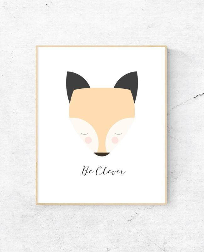 Clever fox print