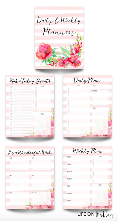 Free Printable Daily and Weekly Planners