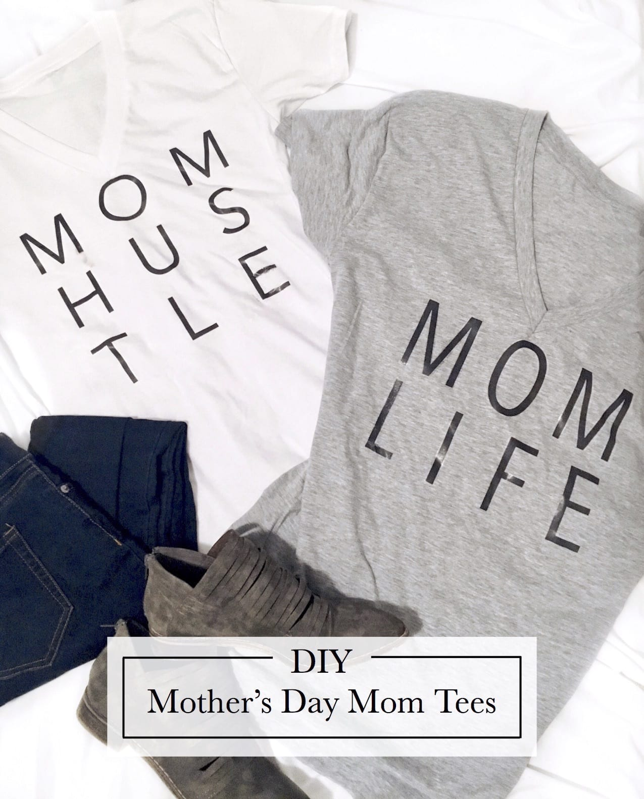 DIY Mother's Day Mom Tees that are #MomGoals