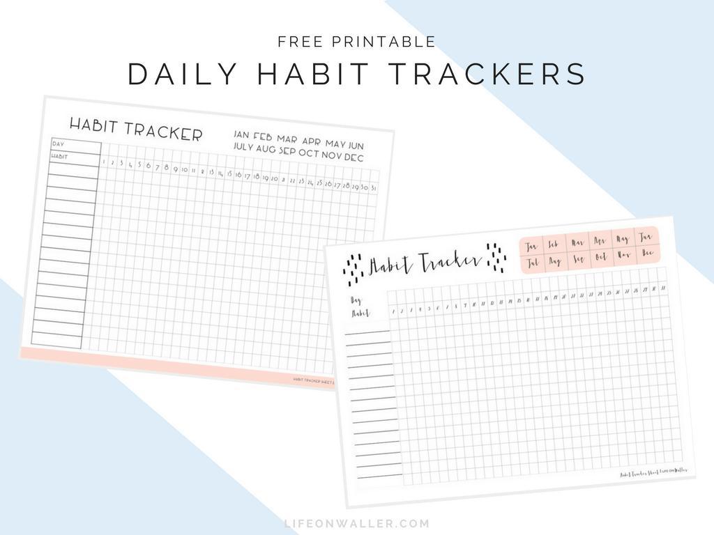 Daily Habit Tracker Free Printables