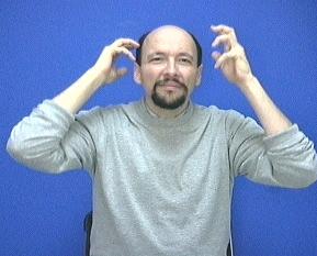 Curly Hair American Sign Language ASL