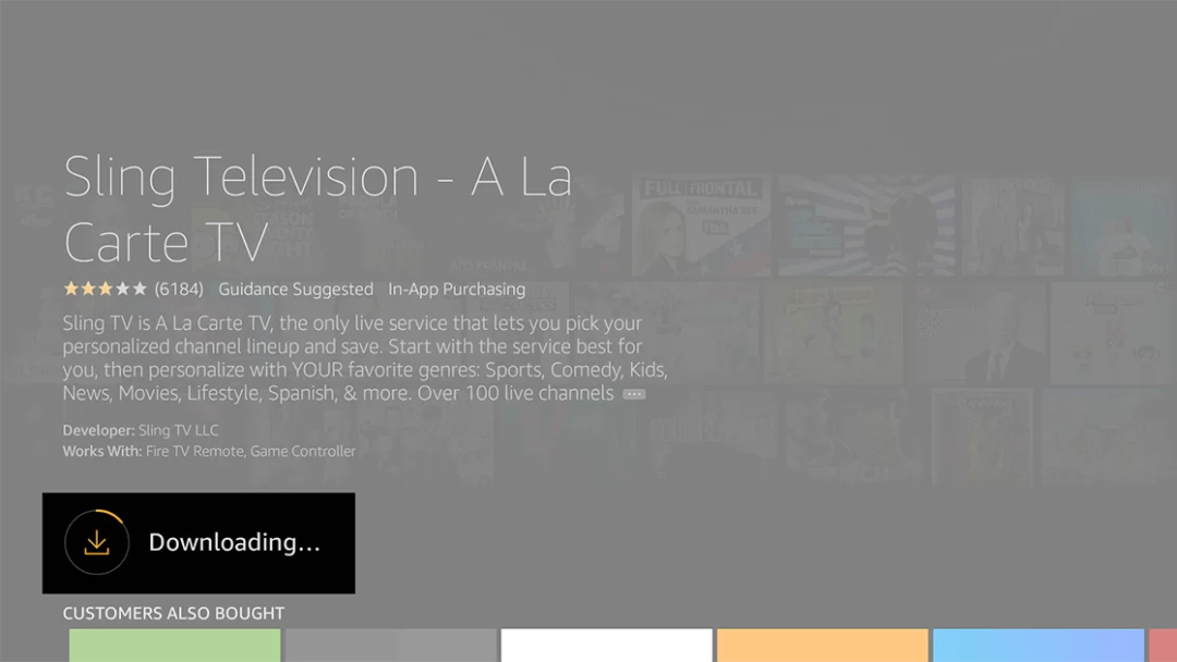 Sling TV Downloading