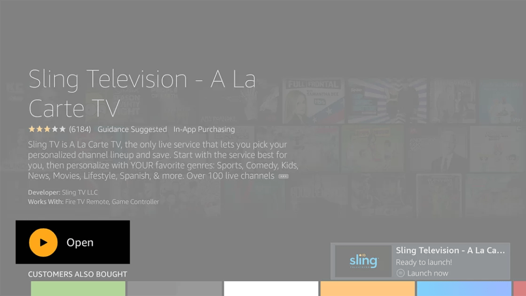 Sling TV Installed Successfully