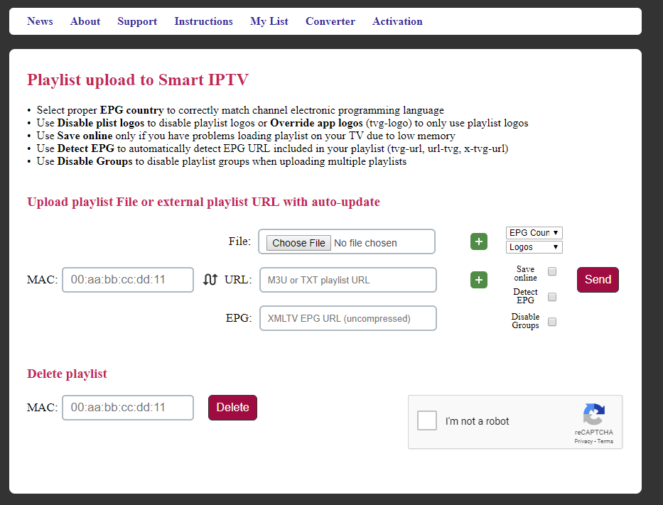 Upload Playlist to Smart IPTV