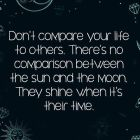Don't Compare Your Life To Others….