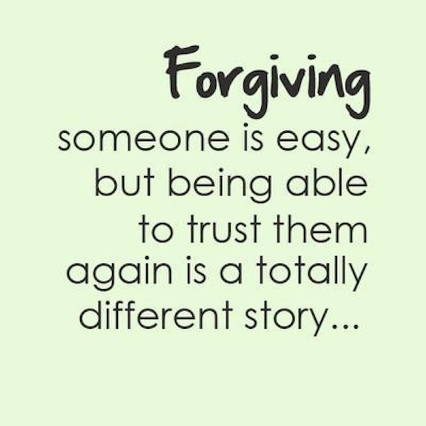 Forgiving someone