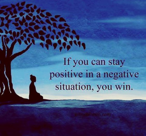 If You Can Stay Positive...