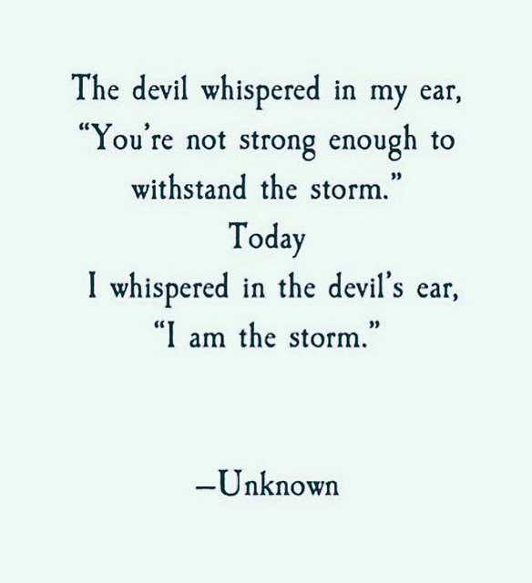 The Devil Whispered In My Ear...