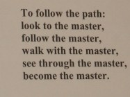 To Follow The Path….