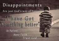 Disappointments Are Just…