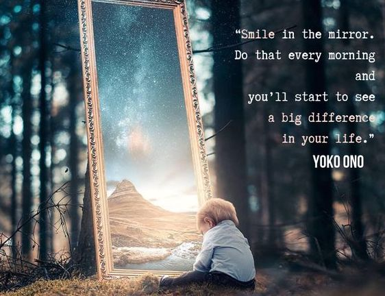 Smile in the mirror