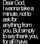 Dear God, I Wanna...