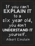 If You Can't Explain...