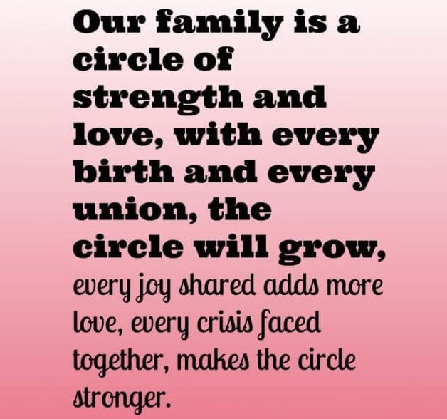 Our Family Is A Circle...