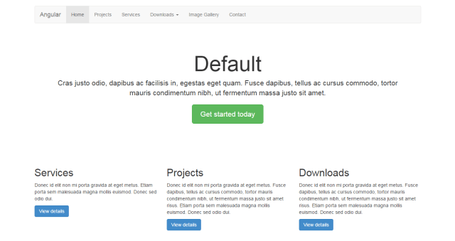 AngularJS Starter Templete With Bootstrap - LIFERAY UI
