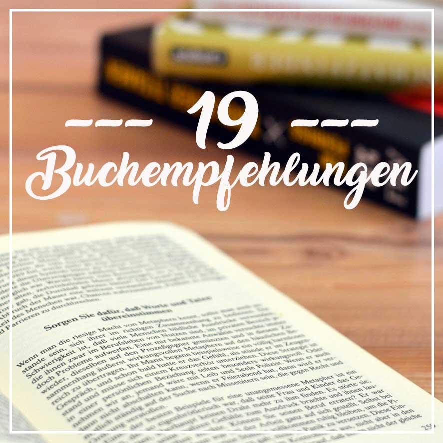 19 Buchempfehlungen von Liferock.tv