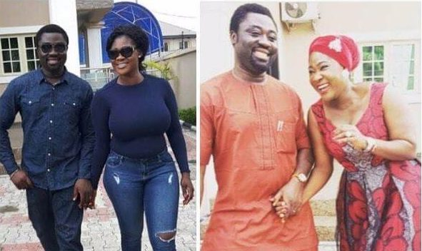 mercy johnson playing cool with her husband