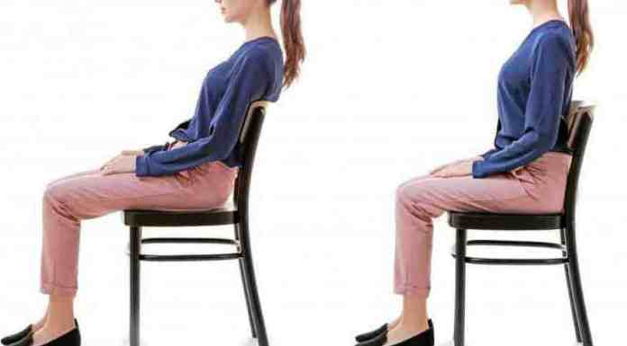 good and poor sitting posture