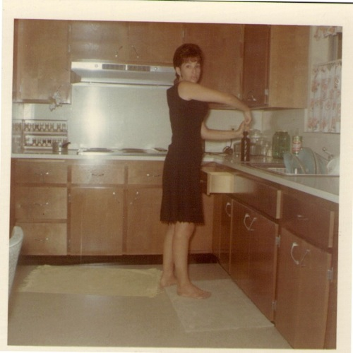 Mom in the kitchen