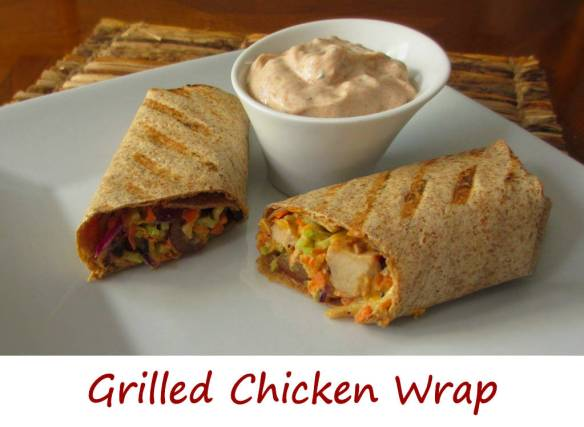 Grilled Chicken Wrap with Southwestern Dipping Sauce