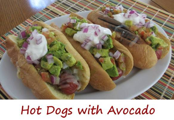 Hot Dogs with Avocado