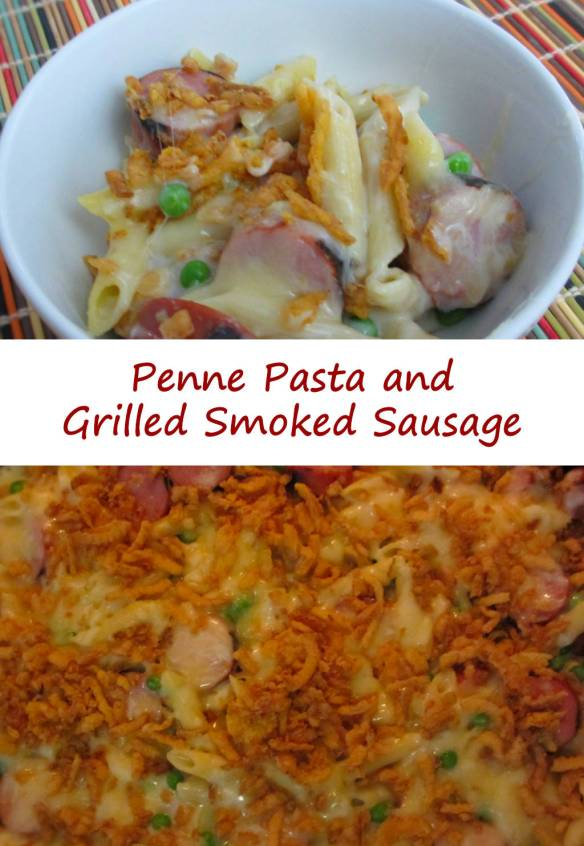 Penne Pasta and Grilled Smoked Sausage