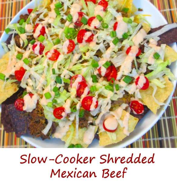 Slow-Cooker Shredded Mexican Beef Nachos