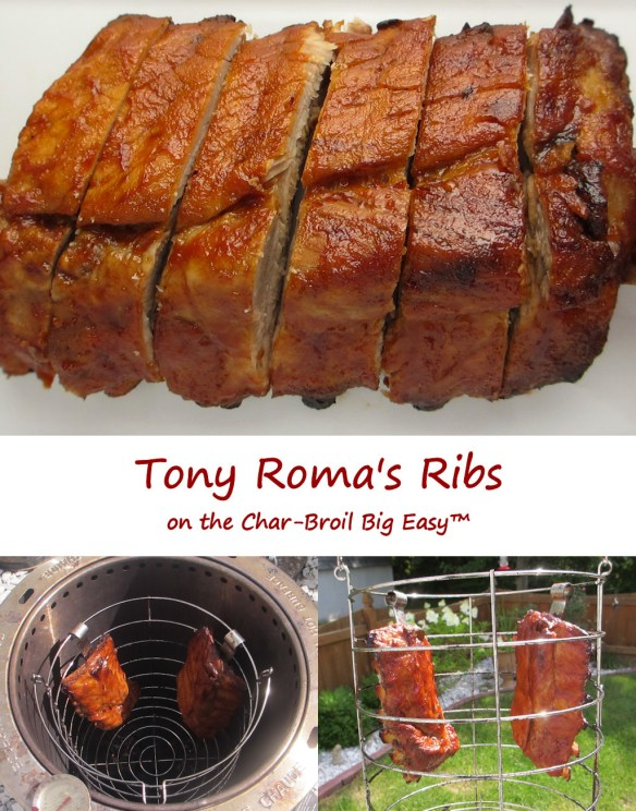 Tony Roma's RIbs on the Char-Broil Big Easy