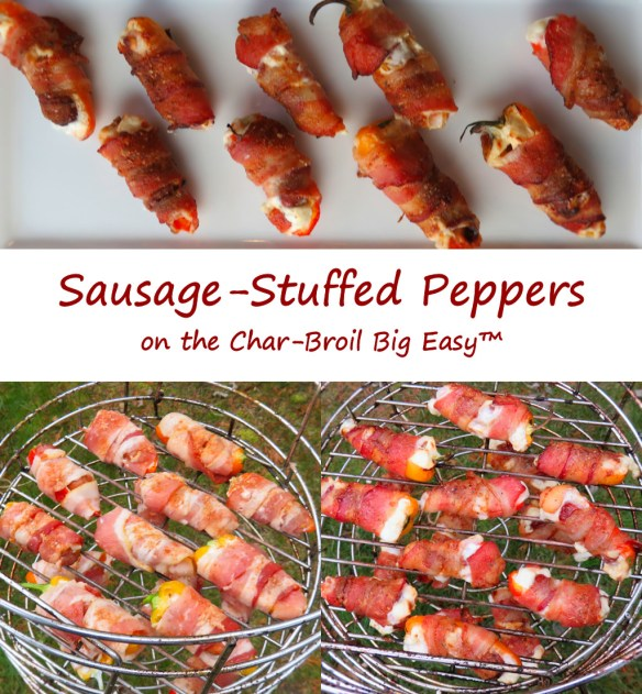 Sausage-Stuffed Peppers on the Char-Broil Big Easy