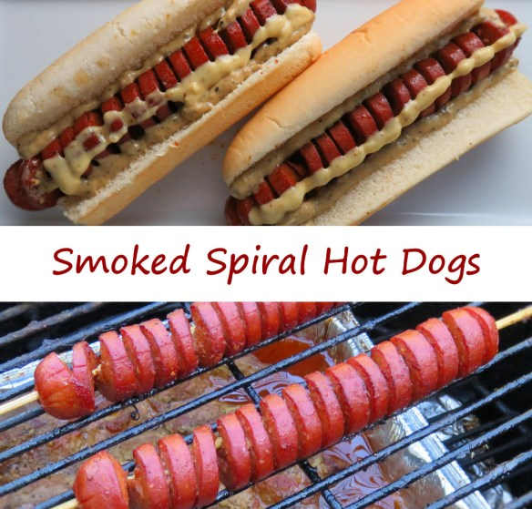Smoked Spiral Hot Dogs