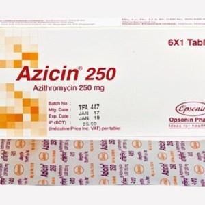 Azicin-250 mg Tablet(Opsonin)