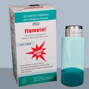 Flumetol - Inhaler (25 mcg+250 mcg)-puff-120 metered doses ( Healthcare )
