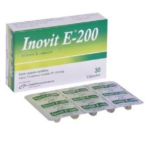 Inovit E - 200 mg Capsule (Liquid Filled)( Incepta )