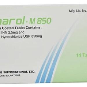Linarol-M-2.5 mg+850 mg Tablet (Drug International Ltd)