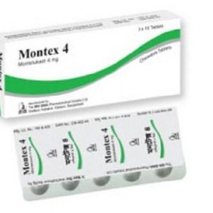 Montex-Chewable Tablet 4 mg(Ibn-Sina Pharmaceuticals Ltd)