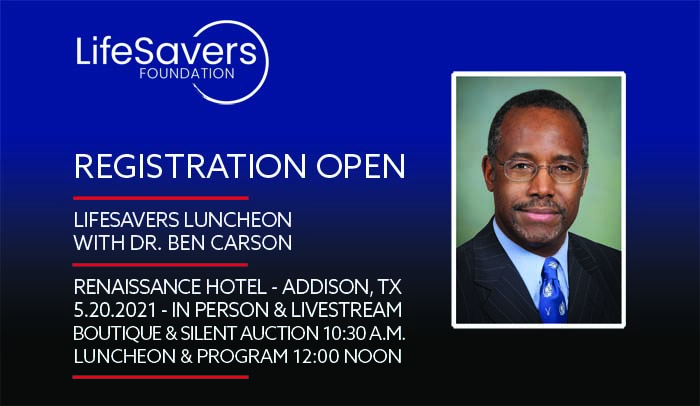 LSF Luncheon graphic with Dr. Ben Carson