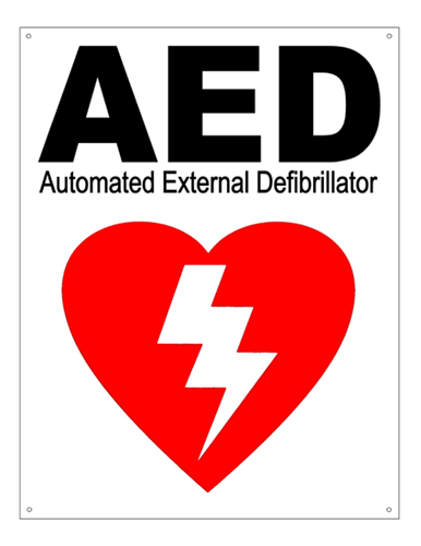 Defibtech AED Wall Sign-8.5x11 Image