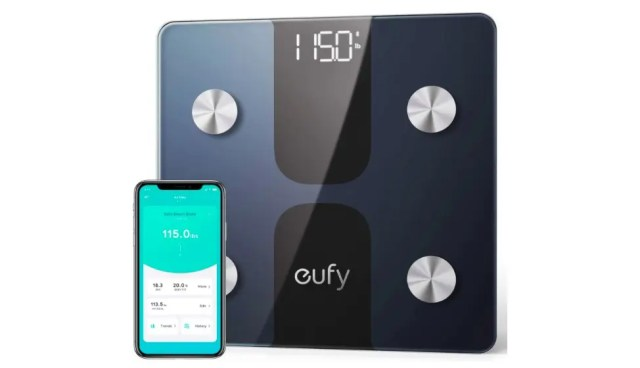 Euphy Smart Scale C1 and its supporting application on the phone.