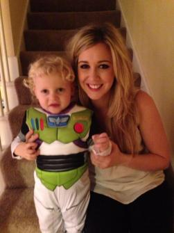 Caleb is buzz lightyear for Halloween