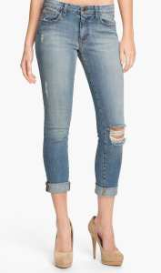 joe's rolled skinny distressed jeans