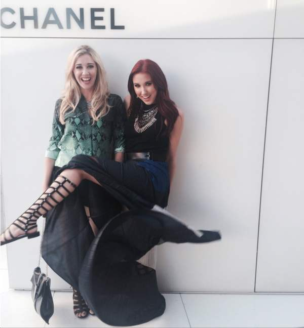 rachel barkules & jaclyn hill at chanel