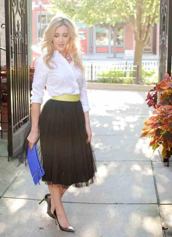 Rachel Barkules black tutu skirt
